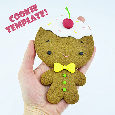 Gingerbread Man - COOKIE TEMPLATE