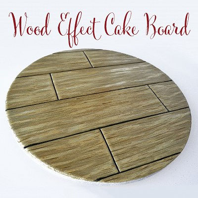 Wood Effect Cake Board