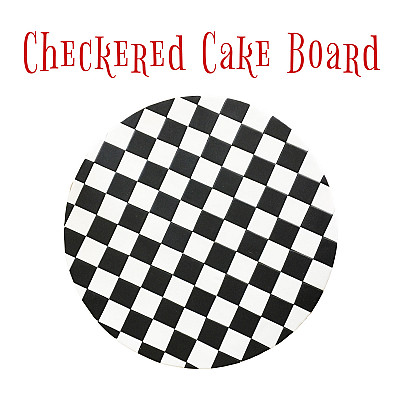 Checkered Cake Board