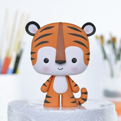Tiger - PDF Cake Topper TUTORIAL with TEMPLATES