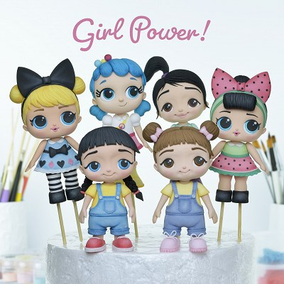 Girl Cake Toppers