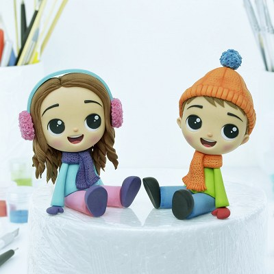 Happy Kids - PDF Cake Topper TUTORIAL with TEMPLATES