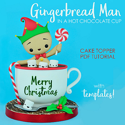 Gingerbread Man in a Hot Chocolate Cup