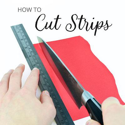 How to cut strips