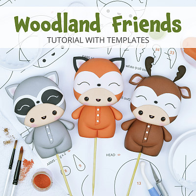 Woodland Friends - Cake Topper TUTORIAL with TEMPLATES
