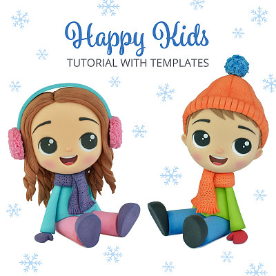 Happy Kids - Cake Topper TUTORIAL with TEMPLATES