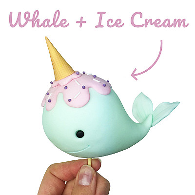 Cute Unicorn Whale