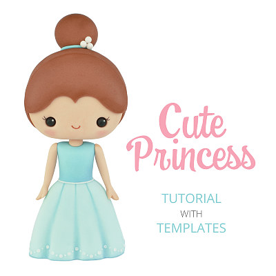 Cute Princess - Cake Topper TUTORIAL with TEMPLATES