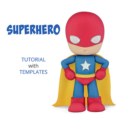 Superhero - Cake Topper TUTORIAL with TEMPLATES