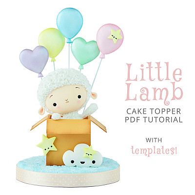 Little Lamb Cake Topper - PDF tutorial with templates
