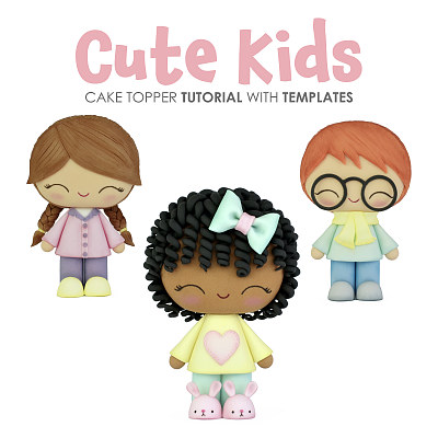 Cute Kids - Cake topper TUTORIAL with TEMPLATES