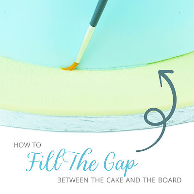 How to fill the gap between the cake and the board
