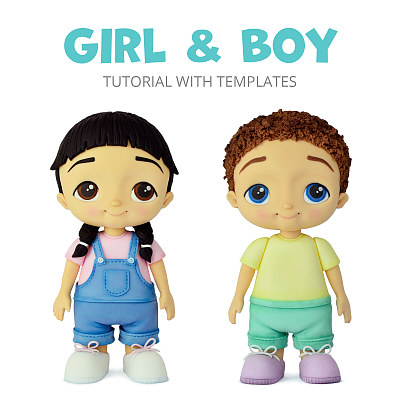 Girl & Boy - Tutorial with Templates