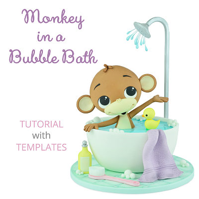 Monkey In a Bubble Bath - Tutorial with Templates