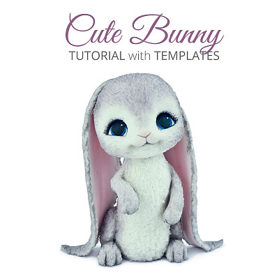 Cute Bunny - Tutorial with Templates