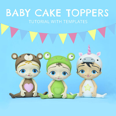 Baby Cake Toppers - Tutorial with Templates