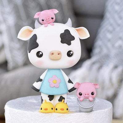Cow and Piglets