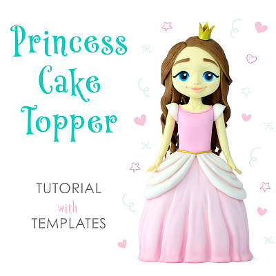 Princess Cake Topper - Tutorial with Templates