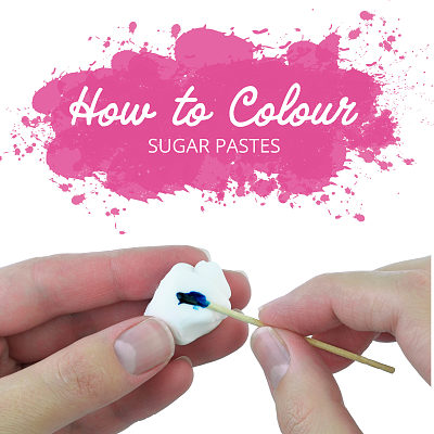 How to color sugar pastes