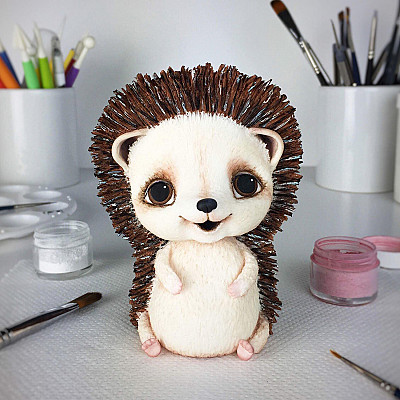 Hedgehog Cake Topper PDF tutorial with TEMPLATES