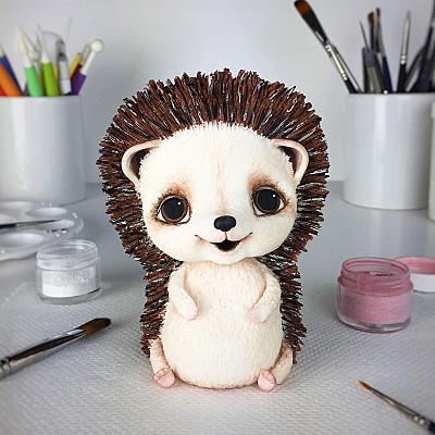 Hedgehog Cake Topper PDF tutorial with TEMPLATES