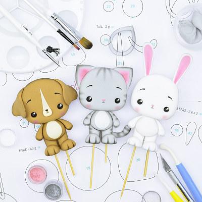 Cat, Bunny & Dog