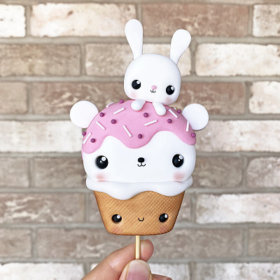 Kawaii Teddy Bear Ice Cream