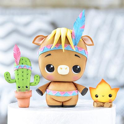 Horse, Cactus & Fire