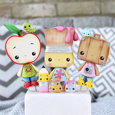 Apple, Paintbrush & Suitcase