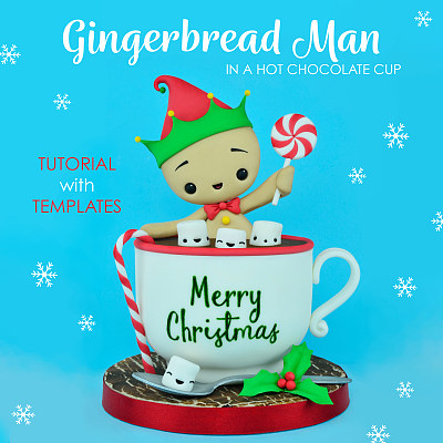 Gingerbread Man - Tutorial with Templates