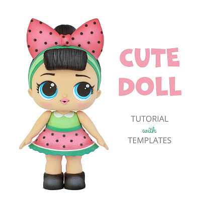 Cute Doll - Tutorial with Templates