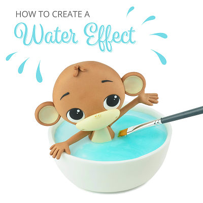 How to create a water effect with piping gel