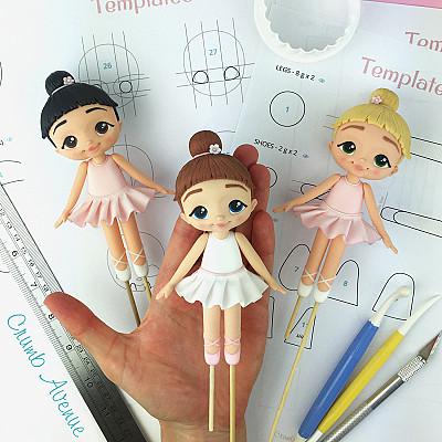 Ballerina PDF Cake Topper TUTORIAL with TEMPLATES