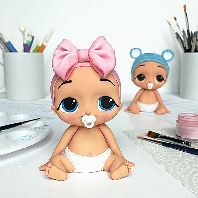 Cute Baby - PDF Cake Topper TUTORIAL with TEMPLATES