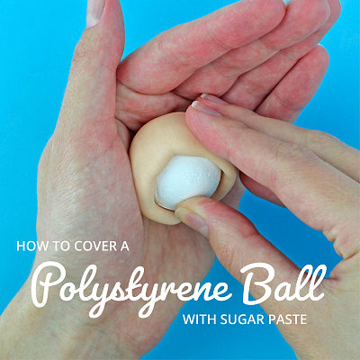 How to cover a polystyrene ball with paste