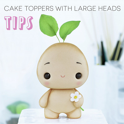 Making cake toppers with large heads - TIPS