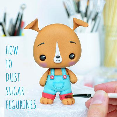 Dusting Sugar Figurines