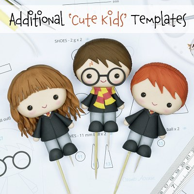 Harry Potter, Ron and Hermiona Cake Toppers