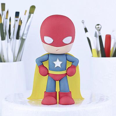 Superhero - PDF Cake Topper TUTORIAL with TEMPLATES
