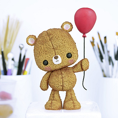 Teddy Bear - PDF Cake Topper TUTORIAL with TEMPLATES